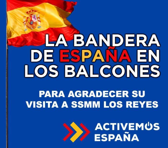 BANDERAS. Imagen de la campaña del Partido Popular.