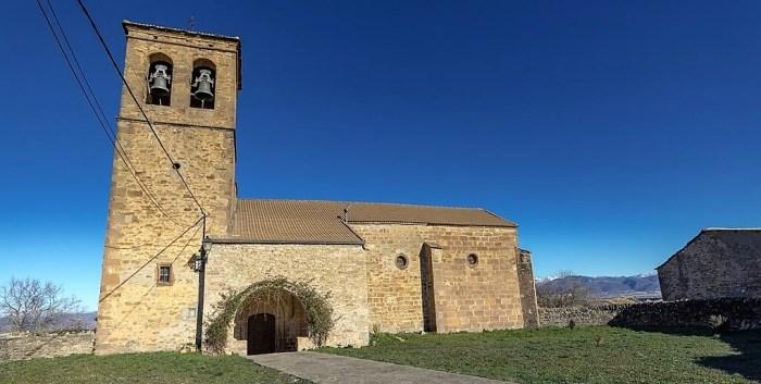 MARTES. Iglesia de Santa María, en la etapa Arrés-Martes.