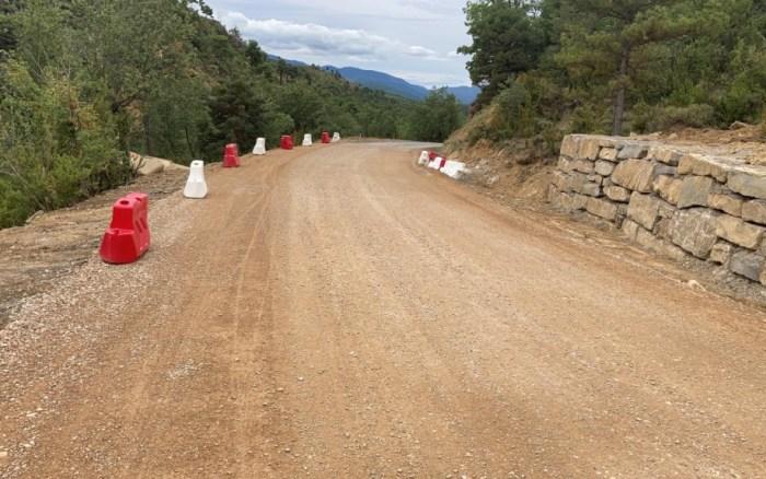 OBRAS. Carretera de Bernués. (FOTO: Gobierno de Aragón)