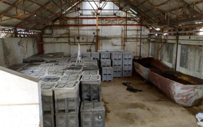SABIÑÁNIGO. Estado actual del interior de una de las naves de Inquinosa, con los residuos existentes encapsulados. (FOTO: Gobierno de Aragón)