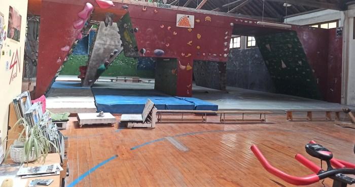 ROCÓDROMO DE JACA. El Club de Escaladores del Pirineo recupera su actividad. (FOTO: Club de Escaladores del Pirineo)