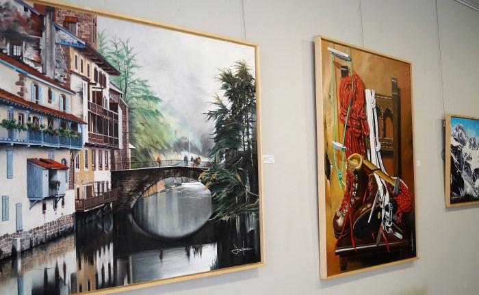 SALA BURNAO. Parte de la obra de Fermín Ochoa que se expone en la Ciudadela de Jaca. (FOTO: Rebeca Ruiz)