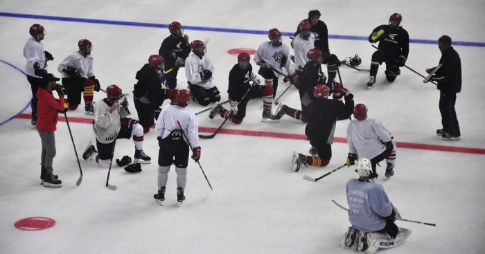 Primer entrenamiento en hielo de la temporada. (FOTO: CHJ)