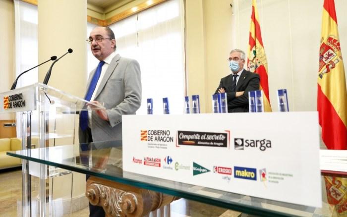 Acuerdo para la promoción de los alimentos nobles de Aragón (FOTO: Gobierno de Aragón/Luis Correas)