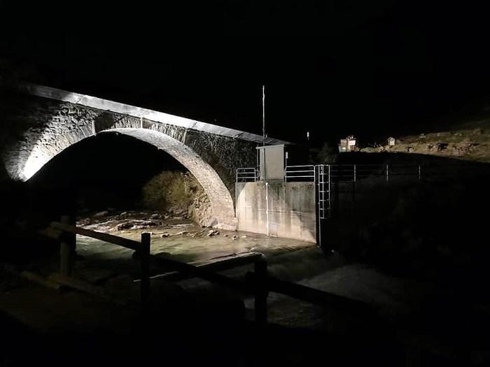 Nueva iluminación ornamental en Canfranc Pueblo.