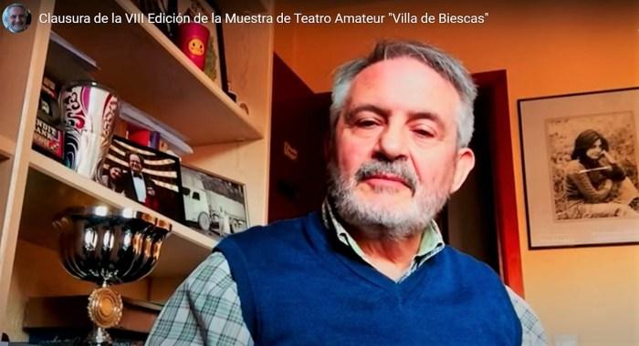 Manuel Aparicio, director de la Muestra de Teatro Amateur Villa de Biescas.