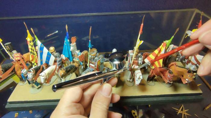 Mantenimiento de las piezas del Museo de Miniaturas Militares de Jaca. (FOTO: Ciudadela de Jaca)