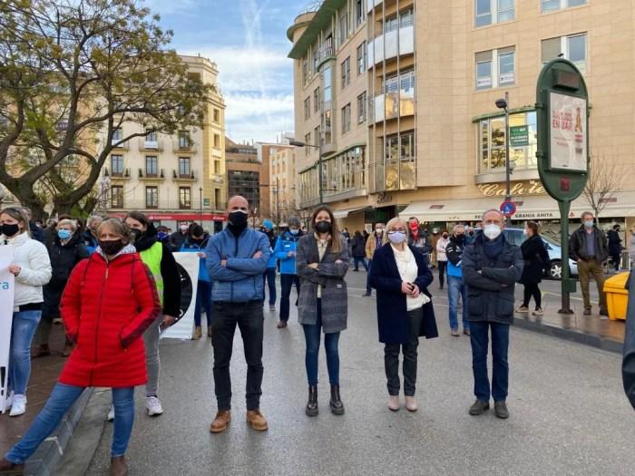 Representantes del PAR en la manifestación de Huesca.