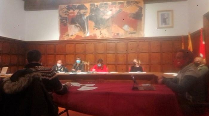 Un momento del pleno de Biescas, en el que se aprobó el presupuesto para 2021.