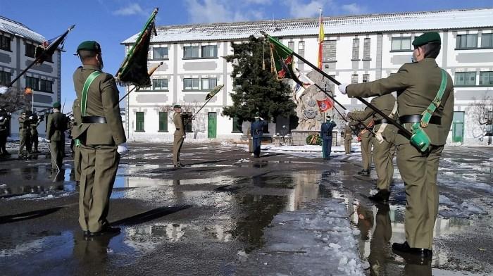Homenaje a los Caídos en el Acuartelamiento La Victoria, en la celebración de La Inmaculada, patrona de Infantería. (FOTO: RCZM Galicia 64)