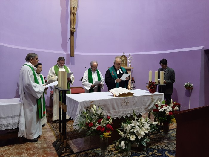 Imagen de archivo de un acto de la Semana de la Oración por los Cristianos celebrado en Sabiñánigo en 2019. (FOTO: Equipo Ecuménico de Sabiñánigo)