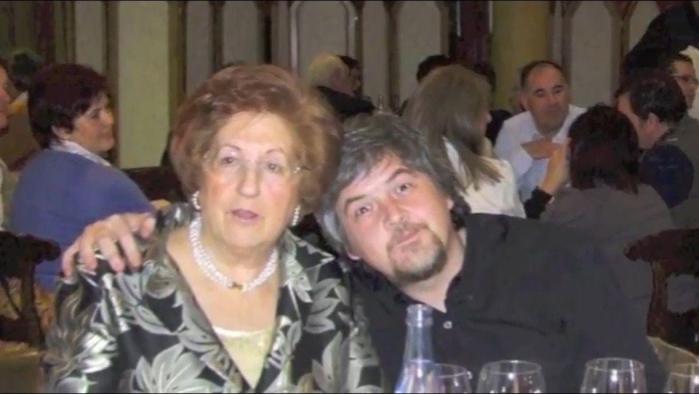 En una cena del cáncer, con el cómico del momento, Javier Coronas.