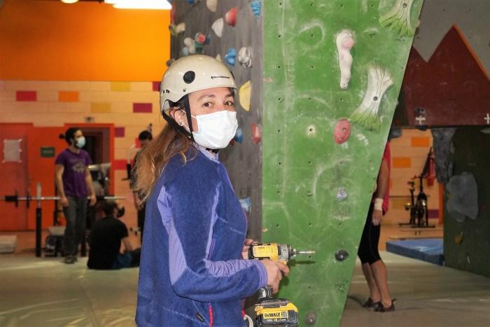 Patricia Ordóñez, presidenta del Club de Escaladores del Pirineo. (FOTO: Rebeca Ruiz)