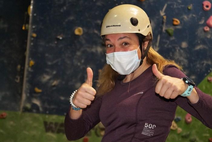 Patricia Ordóñez, presidenta del Club de Escaladores del Pirineo de Jaca. (FOTO: Rebeca Ruiz)