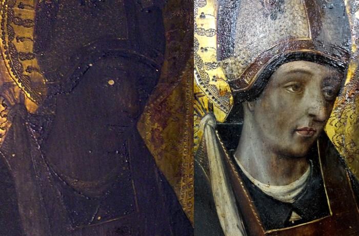 Detalle de la última restauración realizada por María Gómez.