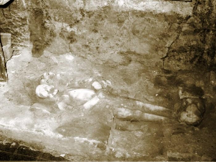 Emplazamiento original de los restos Juan de Velasco, en una imagen original de 1985. (FOTO: Ciudadela de Jaca)