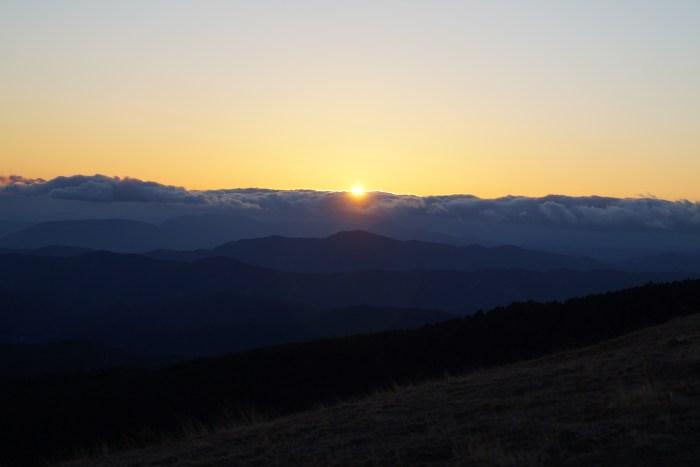 Atardecer desde El Mirador del Pirineo. (FOTO: Rebeca Ruiz)
