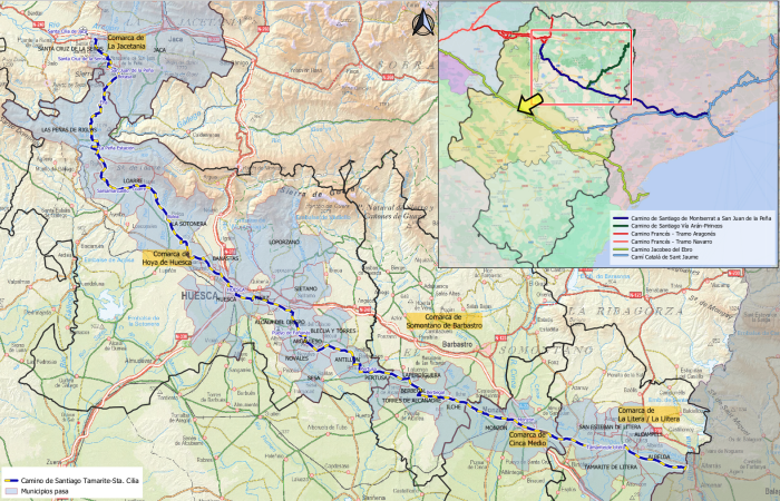 La DPH impulsa el tramo aragonés del Camino de Santiago entre Montserrat y San Juan de la Peña