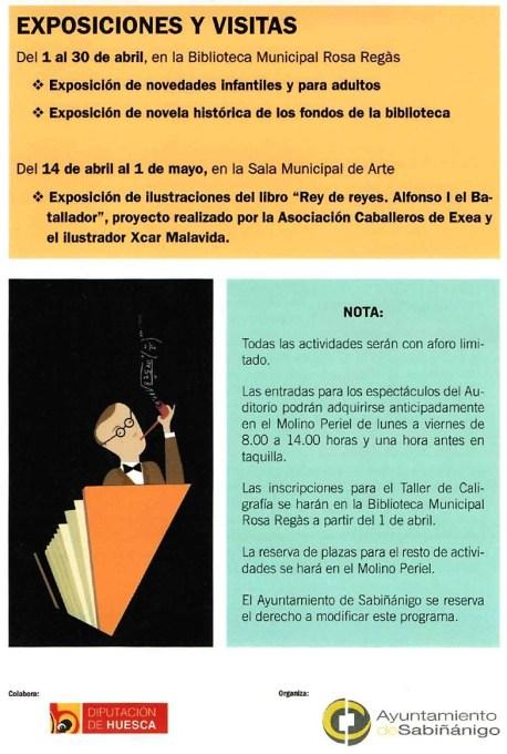 Actividades de la Campaña de Promoción de la Lectura de Sabiñánigo 2021.