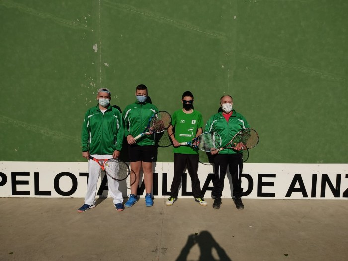 Un poco de justicia para el Club de Pelota Jaca tras una difícil jornada en Ainzón. (FOTO: Club de Pelota Jaca)