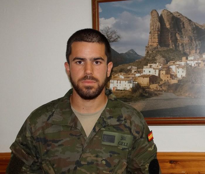 De Jaca al Líbano: cuestión de paz. Sargento Salvador Geli. (FOTO: Rebeca Ruiz)