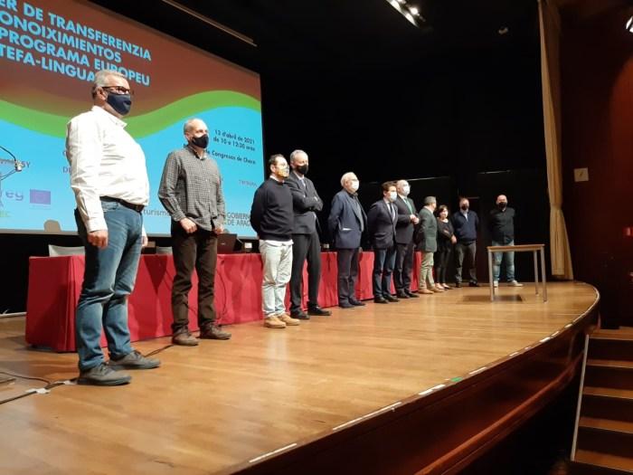 El encuentro ha servido de marco para la firma de un acuerdo de utilización de las herramientas desarrolladas en el marco del Linguatec por varias empresas aragonesas. (FOTO: Linguatec)