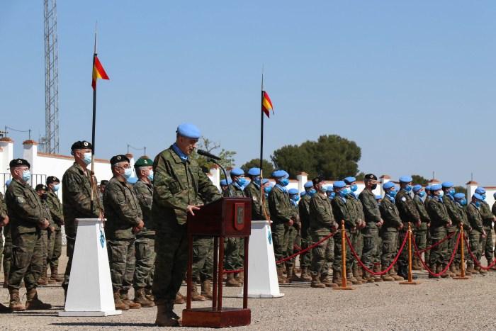 Despedida del contingente que desplegará en el Líbano, donde participan 200 militares de Jaca