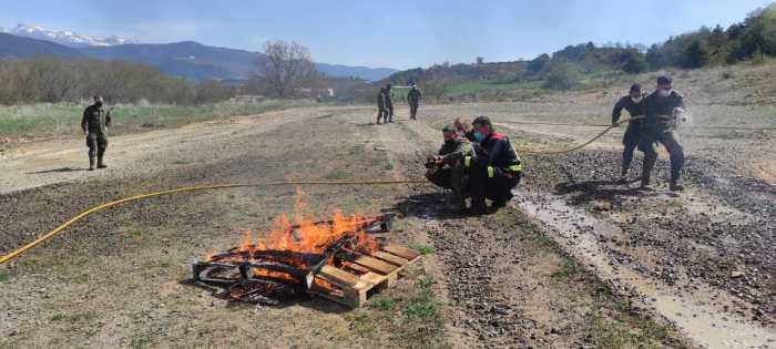 Cooperación entre Protección Civil de la Jacetania y los militares que desplegarán en el Líbano