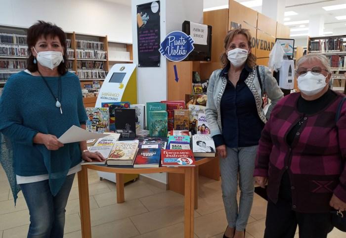 Crece la red de puntos Violeta del Alto Gállego con la incorporación de la biblioteca de Sabiñánigo. (FOTO: Comarca Alto Gállego)