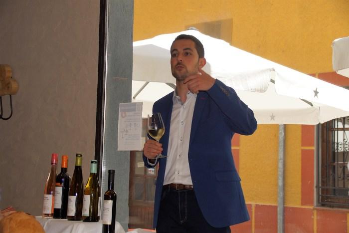 Diego Mur (Viñas del Vero), durante el evento. (FOTO: Rebeca Ruiz)