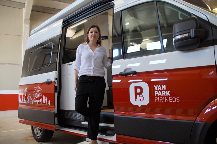 Marta Remón, responsable de Van Park Pirineos. (FOTO: Rebeca Ruiz)