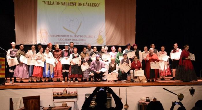 Más de 180 joteros se dan cita en el Certamen Nacional de Jota Villa de Sallent de Gállego. En la imagen, los ganadores de la última edición del evento, en 2019. (FOTO: David Clavería)