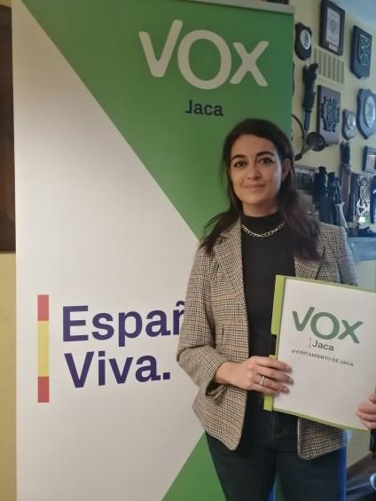 Marta Moreno (Vox Jaca).