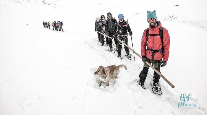 Cuando no existen los límites: la montaña al alcance de todos. Salida con un grupo de miembros de la ONCE al Pico de los Monjes (FOTO: Ojos Pirenaicos)