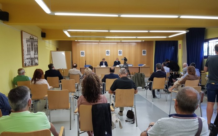 Soro destaca en Jaca la labor de municipios y organizaciones para impulsar el Camino de Santiago. (FOTO: Gobierno de Aragón)