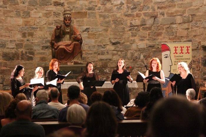 Tiburtina Ensemble en Siresa, el pasado sábado. (FOTO FICS/María Navas)