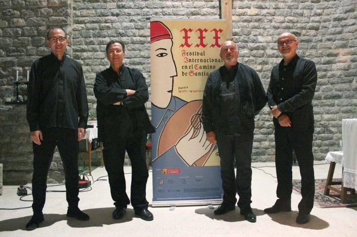 Mágica noche de música en el Camino de Santiago en Canfranc con el Cuarteto de Irueña. (FOTO: María Navas)