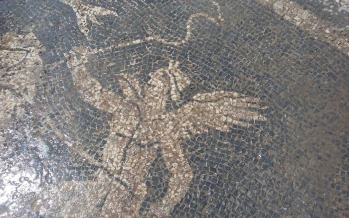 Impulso a la protección e investigación del yacimiento romano del Forau de la Tuta, en Artieda. Un momento de la visita. (FOTO: Gobierno de Aragón)