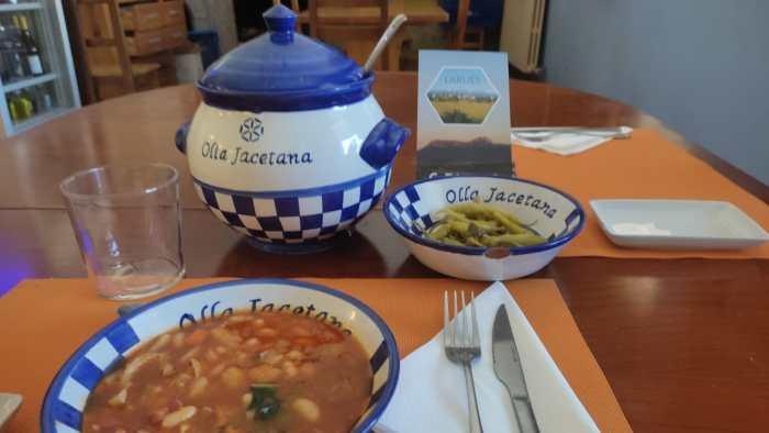 Olla Jacetana. La versión de El Molino de Larués.