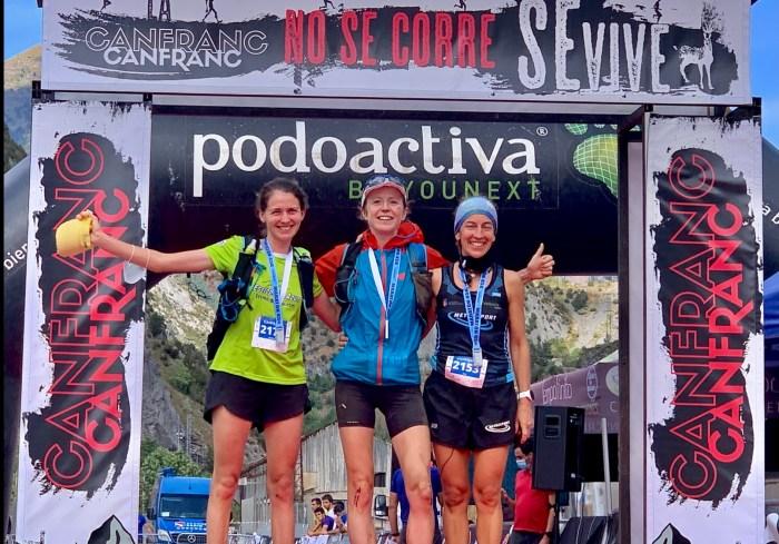 Peter Frano y Charlotte Morgan se llevan la Maratón de la Canfranc-Canfranc. Podio masculino. (FOTO: Mayayo)