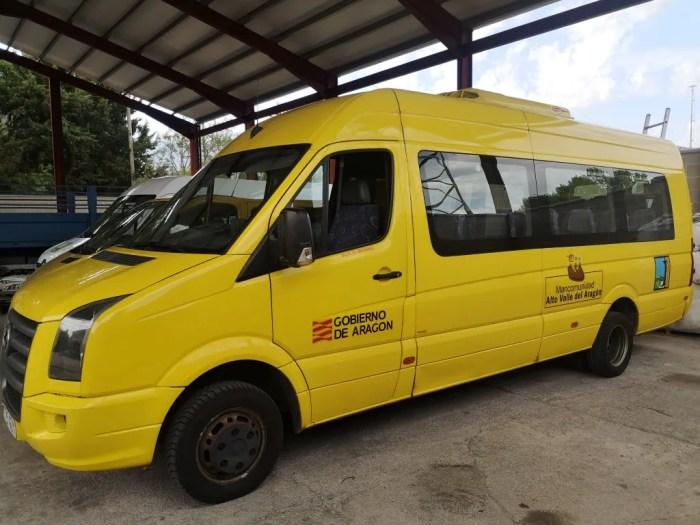 340 escolares utilizarán este curso las rutas de transporte de La Jacetania