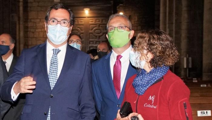 """Antonio Garamendi: """"Todavía no se pueden echar las campanas al vuelo"""". (FOTO: Rebeca Ruiz)"""