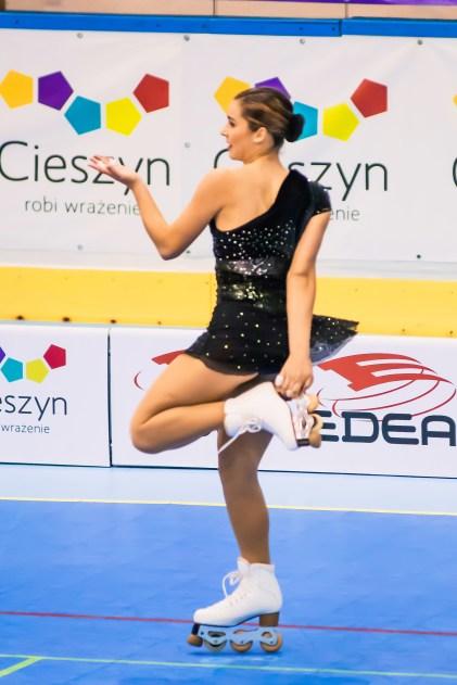 Angela Martín-Mora durante su actuación.