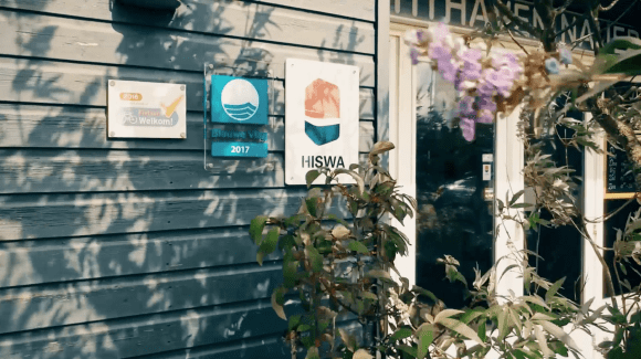 Jachthaven Nauerna is aangesloten bij Hiswa en heeft het keurmerk Blauwe vlag