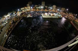 le port de dakar la nuit