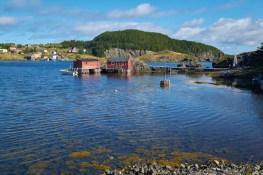 Village de pêche côte est de Terre-Neuve
