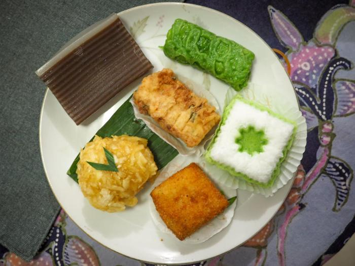 Various Indonesian snacks - all vegetarian