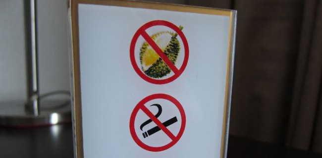 No durians allowed in the room