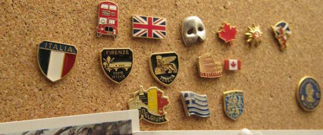 travel lapel pin collecion