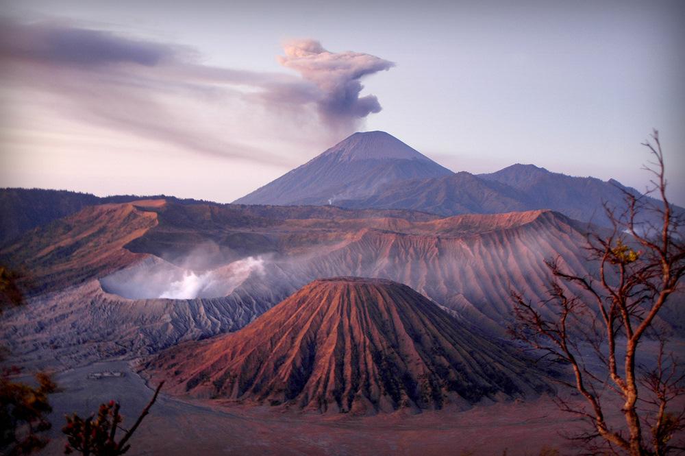 Bromo mountain at sunrise